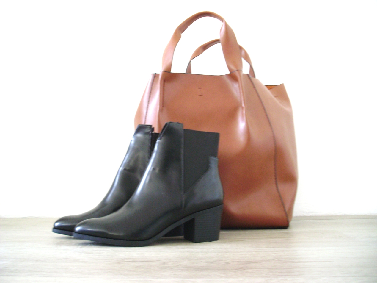 Zara bag, zara chelsea boots, brown zara bag, sale zara