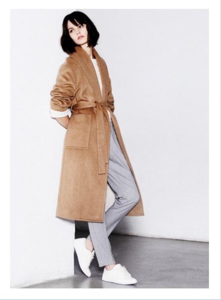 Mango camel coat