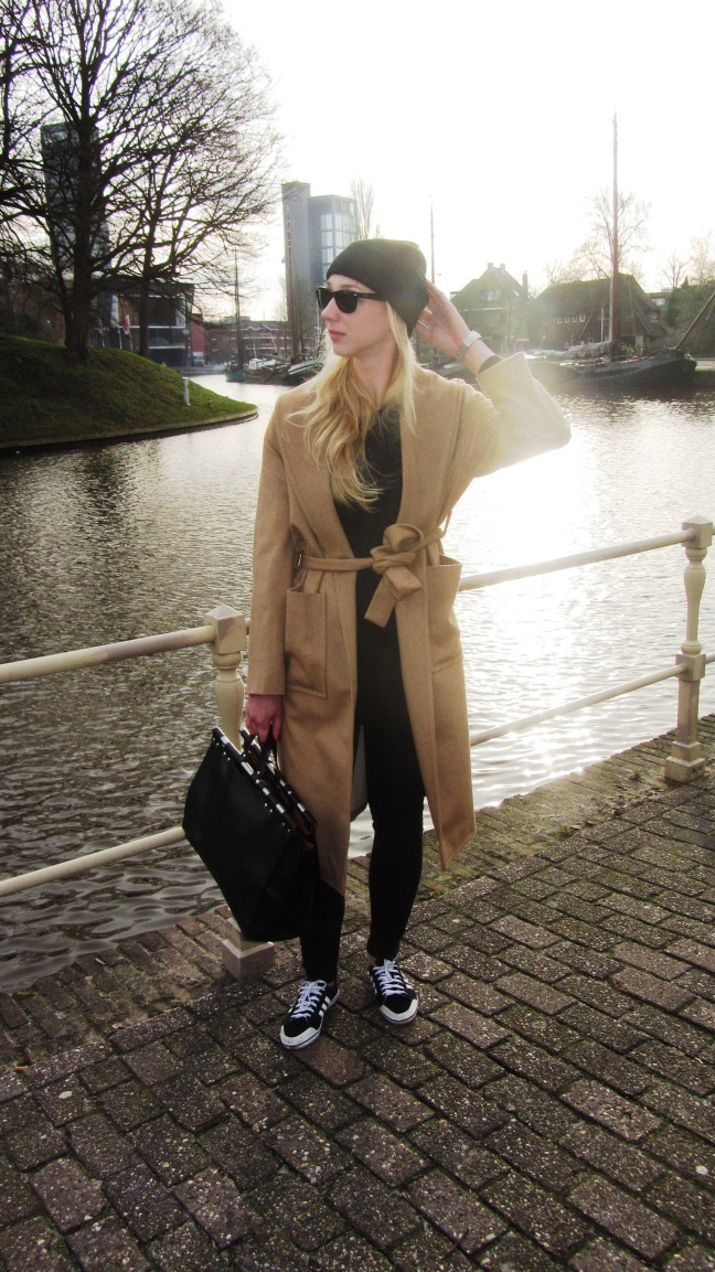 mango camel coat camelkleurige jas