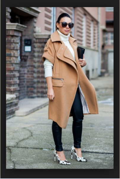 Mango coat via Chictopia