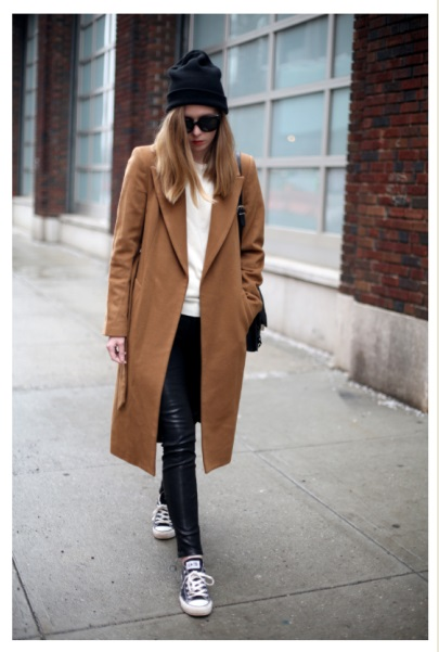 Camel coat via Whatwearewearing